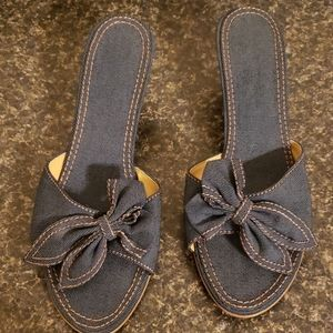 Denim Slide Shoes